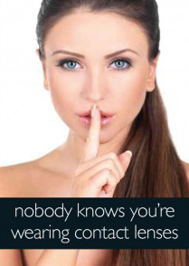 nobody knows you're wearing contact lenses
